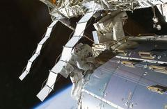 astronauts take emergency spacewalk to fix space station leak
